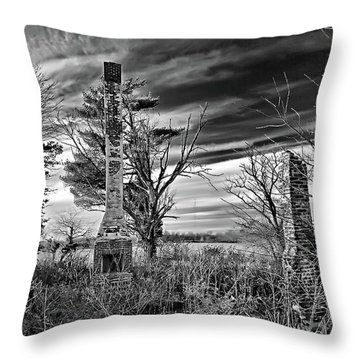Throw Pillow featuring the photograph Dark Days by Brian Wallace