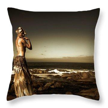 Dark Dramatic Fine Art Beauty Throw Pillow