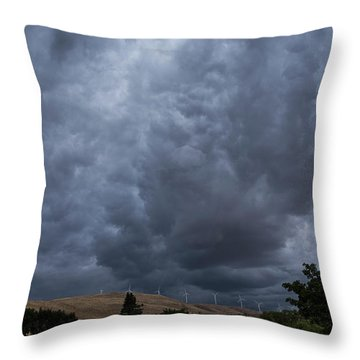 Dark Electric Throw Pillow