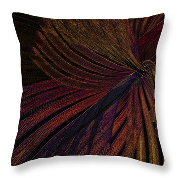 Dark Feather Throw Pillow by Constance Krejci