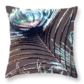 Dark Feathers Throw Pillow
