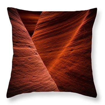 Dark Flow Throw Pillow