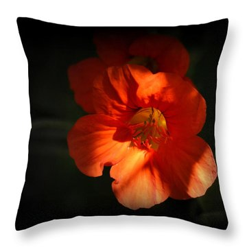 Throw Pillow featuring the photograph Dark Flower by AJ Schibig