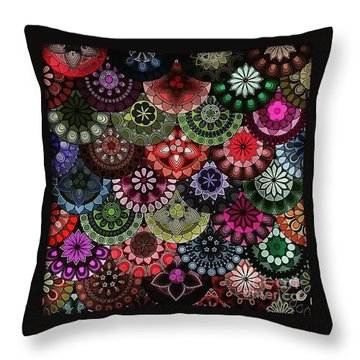 Dark Flower Throw Pillow