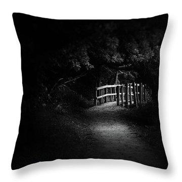 Dark Footbridge Throw Pillow