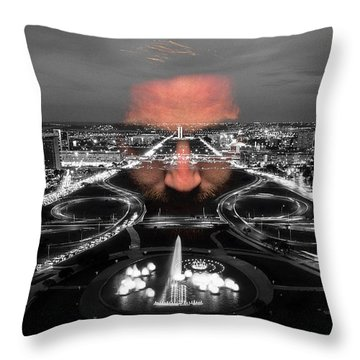 Throw Pillow featuring the digital art Dark Forces Controlling The City by ISAW Company