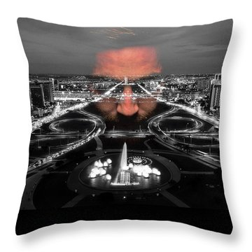 Dark Forces Controlling The City Throw Pillow by ISAW Gallery