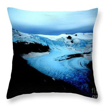 Dark Glacier Throw Pillow