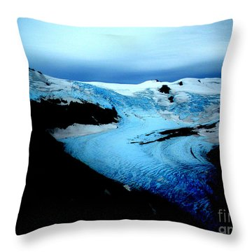 Dark Glacier Throw Pillow