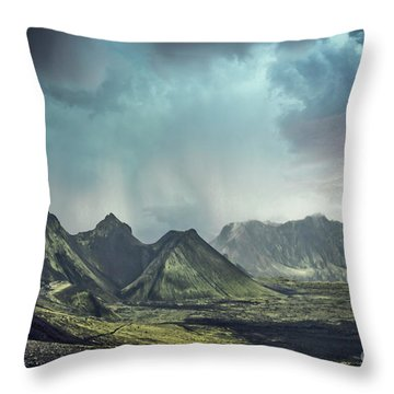 Dark Gods Arise Throw Pillow