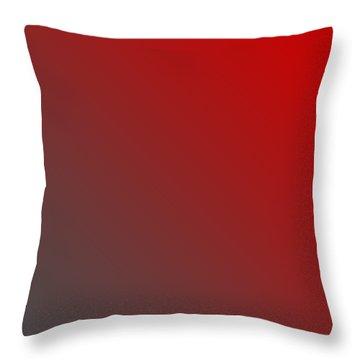 Dark Gray Diagonal Ombre Throw Pillow