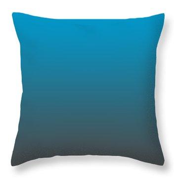 Dark Gray Ombre Throw Pillow