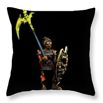 Throw Pillow featuring the photograph Dark Guard by Mark Blauhoefer
