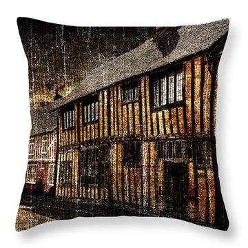 Dark Houses Throw Pillow