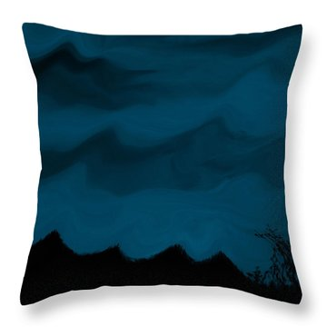 Dark Is The Night Throw Pillow