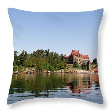 Dark Island Throw Pillow