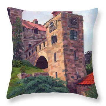 Dark Island Resident Throw Pillow