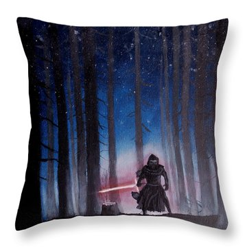 Dark Jedi Throw Pillow