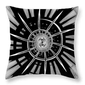 Dark Liberty Throw Pillow