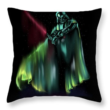 Dark Light Throw Pillow