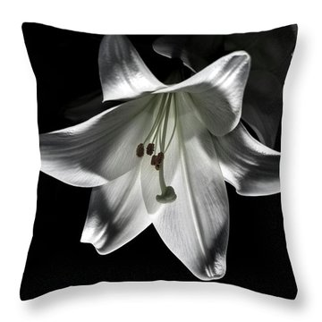 Dark Lilly Throw Pillow
