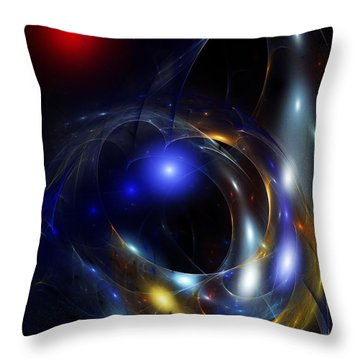 Dark Matter Revealed Throw Pillow by David Lane