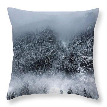Dark Mountain Throw Pillow by Evgeni Dinev