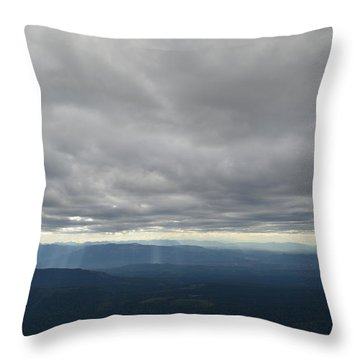 Dark Mountains Throw Pillow