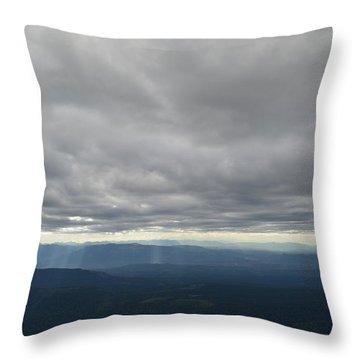 Dark Mountains Throw Pillow