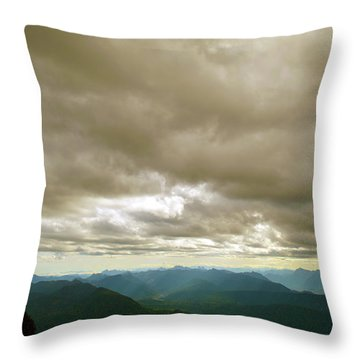 Dark Mountains Too Throw Pillow