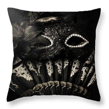 Dark Night Carnival Affair Throw Pillow