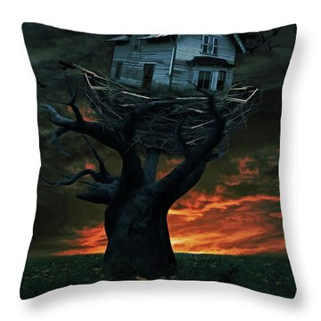 Dark Night Throw Pillow by Mihaela Pater