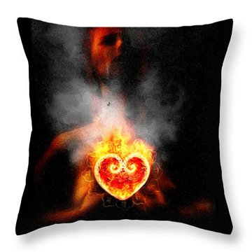 Throw Pillow featuring the painting Dark Night Of The Soul by Robby Donaghey