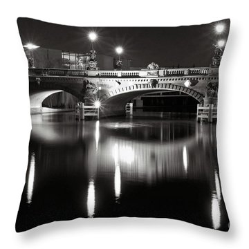 Dark Nocturnal Sound Of Silence Throw Pillow