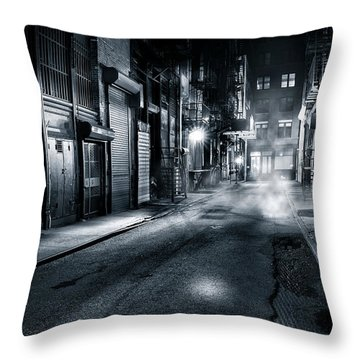 Dark Nyc Throw Pillow