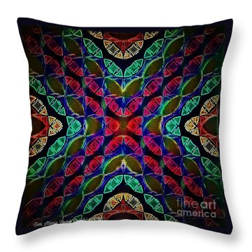 Dark Overlay Throw Pillow