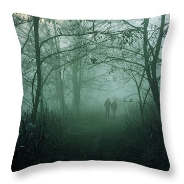 Dark Paths Throw Pillow