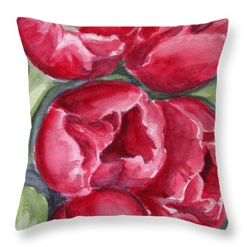 Dark Red Throw Pillow