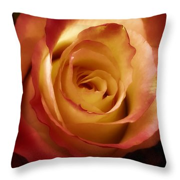 Dark Rose Throw Pillow