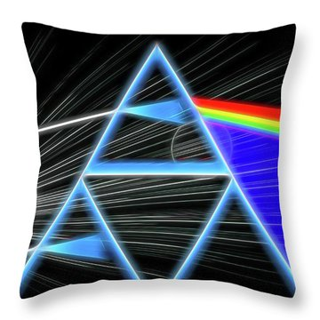 Throw Pillow featuring the digital art Dark Side Of The Moon by Dan Sproul