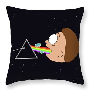 Mugshots And The Dark Side Throw Pillows