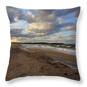 Dark Skies And Sea - Nova Scotia Seascape Throw Pillow