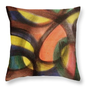 Throw Pillow featuring the painting Dark Soul by Lucia Sirna