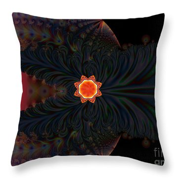 Dark Space Fractal  Throw Pillow