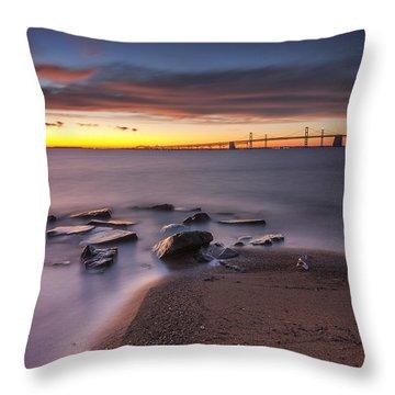 Throw Pillow featuring the photograph Dark Stirs Awake by Edward Kreis