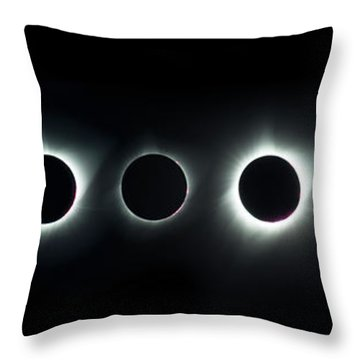 Dark Sun Throw Pillow by James Heckt