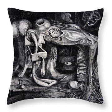 Dark Surprise Throw Pillow by Otto Rapp