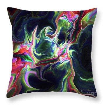 Throw Pillow featuring the digital art Dark To Light by Deborah Benoit