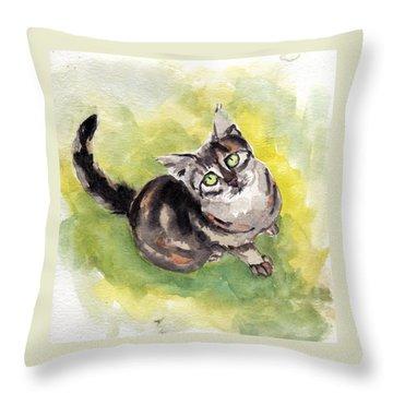 Dark Torbie Throw Pillow