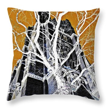 Dark Tower Throw Pillow by Sarah Loft